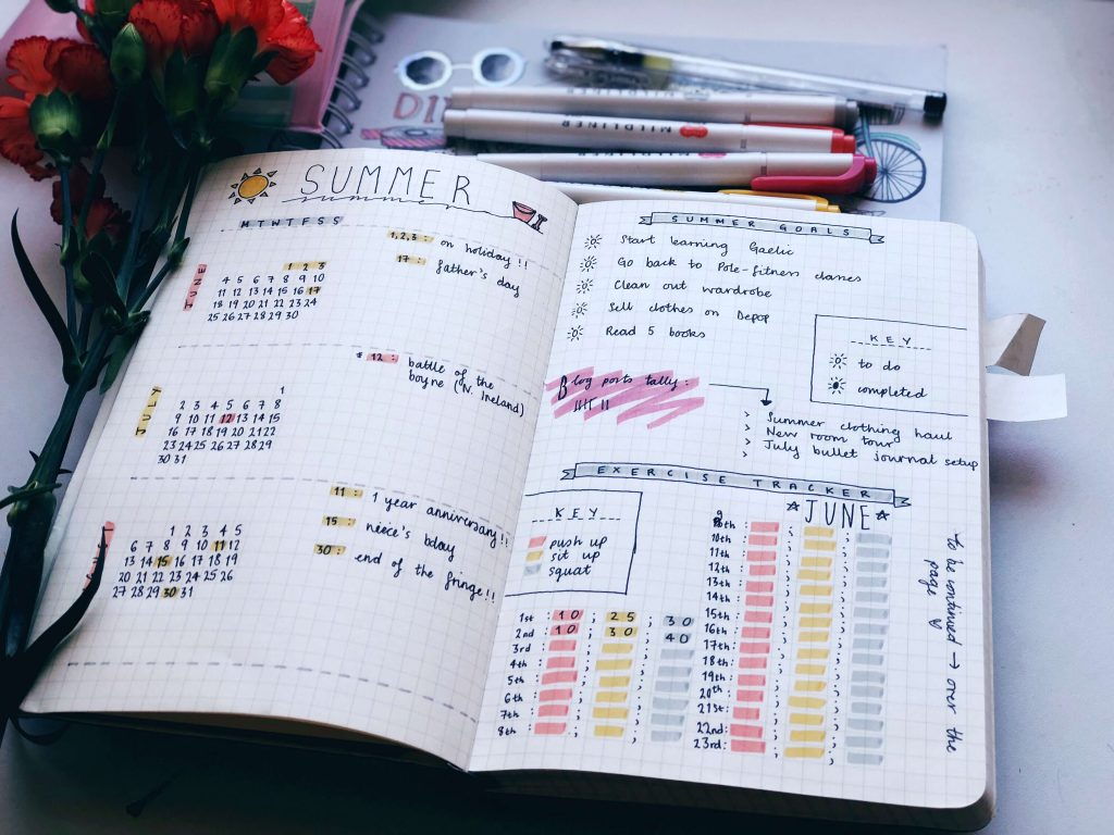 Bullet journal summer